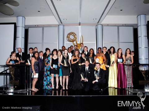 The award recipients at the 31st College Television Awards