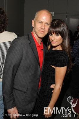 Ryan Murphy and Lea Michele at An Evening With Glee