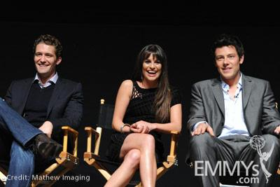 Matthew Morrison, Lea Michele and Cory Monteith at An Evening With Glee
