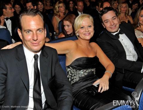 Actors Will Arnett, Amy Poehler and Jimmy Fallon