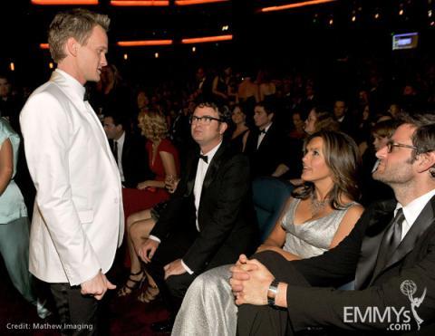 Actors Neil Patrick Harris, Rainn Wilson and Mariska Hargitay