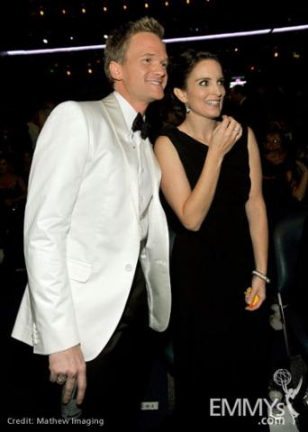 Host Neil Patrick Harris and actress Tina Fey