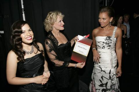 Ugly Betty star America Ferrera, Damages star Glenn Close and Ugly Betty star Vanessa Williams at the 60th Primetime Emmys