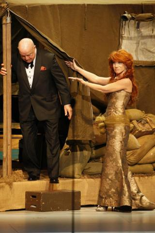 Don Rickles and Kathy Griffin onstage at the 60th Primetime Emmy Awards held at the Nokia Theatre