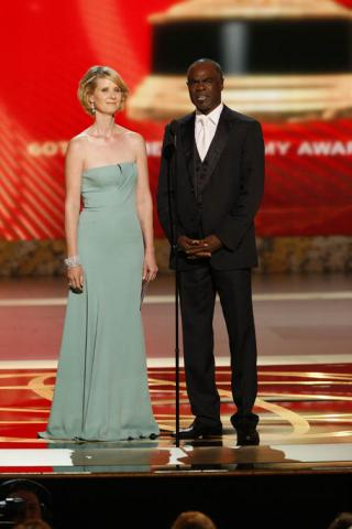 Sex and the City co-star Cynthia Nixon and In Treatment co-star Glynn Turman