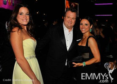 Actors Eric Stonestreet and Julia Louis-Dreyfus with guest (L) attend the 62nd Annual Primetime Emmy Awards held at Nokia Theatr