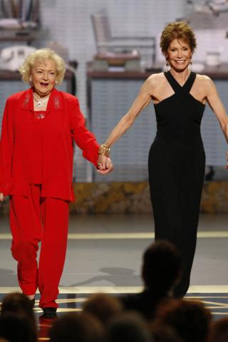 Betty White & Mary Tyler Moore at the 60th Primetime Emmys