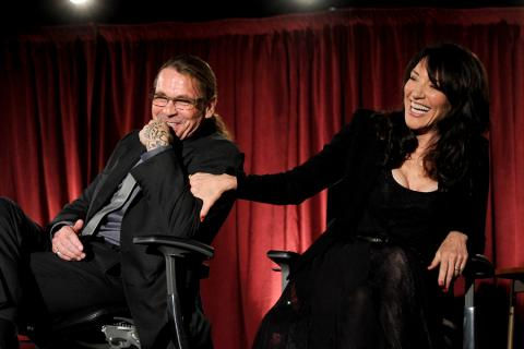 Kurt Sutter and Katey Sagal