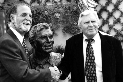 Andy Griffith and Rich Frank