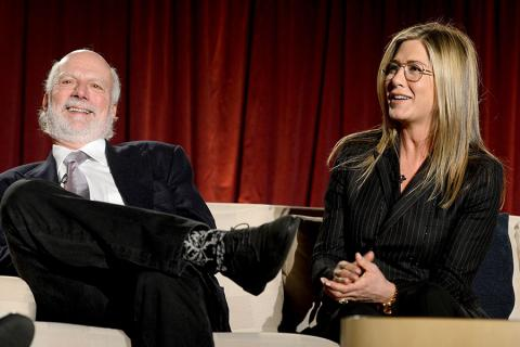 Jennifer Aniston and James Burrows