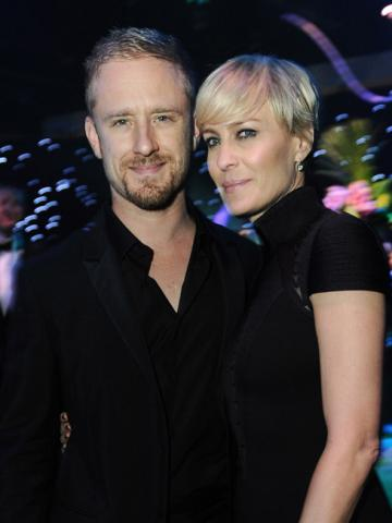 Ben Foster and Robin Wright at the Governors Ball