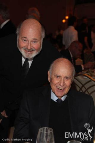 Rob Reiner with his father, Hall of Fame inductee Carl Reiner.