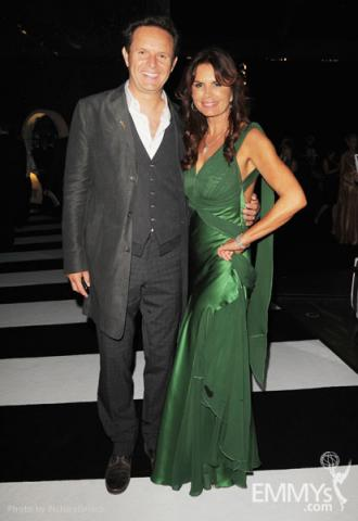 Mark Burnett (L) and Roma Downey arrive at the Academy of Television Arts & Sciences 63rd Primetime Emmy Awards
