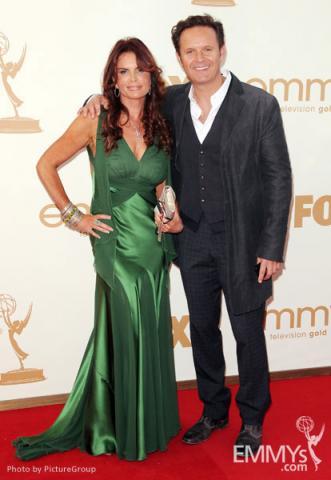 Roma Downey (L) and executive producer Mark Burnett (R)