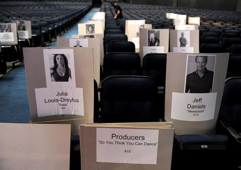 Seat cards for the 65th Emmy Awards.