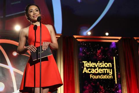 Aimee Garcia presents at the 35th College Television Awards