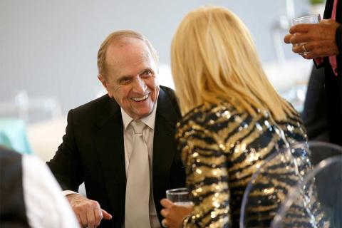 Bob Newhart and Suzanne Somers at the Television Academy's 70th Anniversary Gala and Opening Celebration for its new Saban Media Center on June 2, 2016