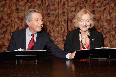 Jeffrey Hayden and Eva Marie Saint