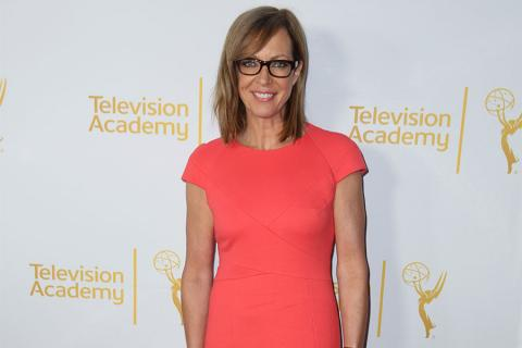 Allison Janney arrives at the Montage Beverly Hills for the 2014 Performers Peer Group Primetime Emmy nominee reception.
