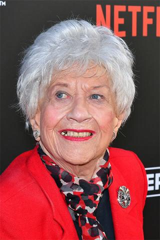 Charlotte Rae arrives at The Power of TV: A Conversation with Norman Lear and One Day at a Time, presented by the Television Academy Foundation and Netflix in celebration of the Foundation's 20th Anniversary of THE INTERVIEWS: An Oral History Project, on