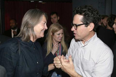 Actress Cherry Jones and J.J. Abrams at the reception following Transparent: Anatomy of an Episode, March 17, 2016 in Los Angeles.