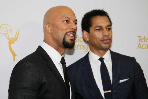Common and Toure on the red carpet at An Evening with Norman Lear at the Montalban Theater in Hollywood.