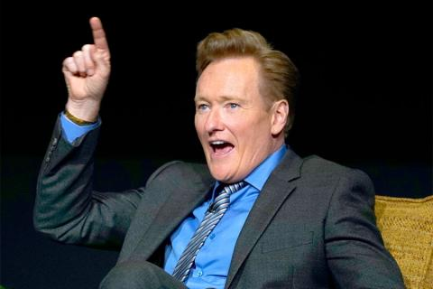 Conan O'Brien at The Rise of the Cerebral Comedy: A Conversation with Bob Newhart, presented Tuesday, Aug. 8, 2017, at the Television Academy's Wolf Theater at the Saban Media Center in North Hollywood, California.