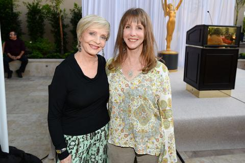 Florence Henderson and Laraine Newman at the Performers Peer Group nominee reception.