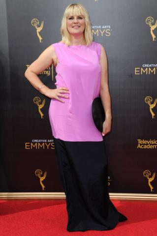 Marie Schley on the red carpet at the 2016 Creative Arts Emmys.