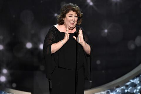 Margo Martindale accepts an award at the 2016 Creative Arts Emmys.