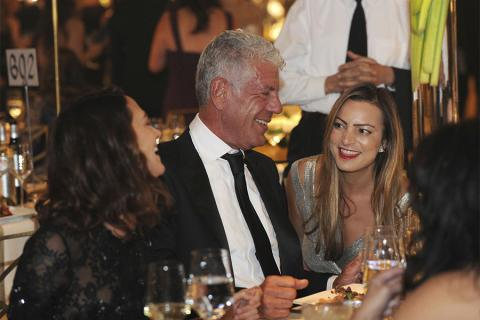 Anthony Bourdain and guests at the 2017 Creative Arts Ball.