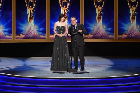 Carrie Brownstein and Patton Oswalt