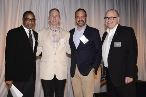 (From left) Screech Washington, Blake McCormick, Scott Hornbacher and Tim Gibbons attend the Producers nominee reception.