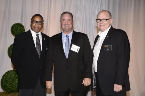 Screech Washington, and from left, David Nuckolls, and Tim Gibbons at the Producers Nominee Reception.