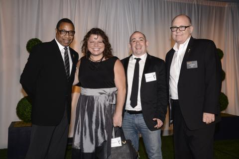 (From left) Screech Washington, Tanya Bracco, Matt Lappin and Tim Gibbons attend the Producers nominee reception.