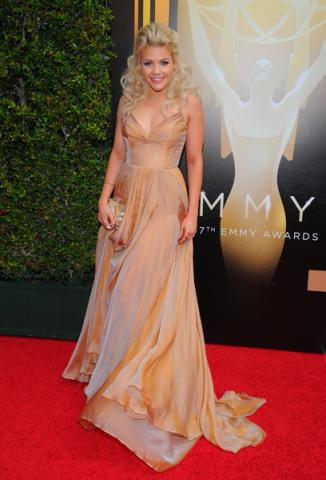 Witney Carson on the Red Carpet at the 2015 Creative Arts Emmys.