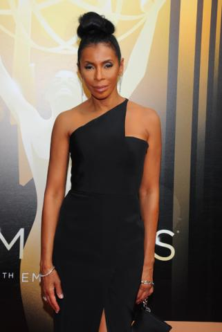 Khandi Alexander on the Red Carpet at the 2015 Creative Arts Emmys.