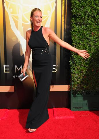 Cat Deeley on the Red Carpet at the 2015 Creative Arts Emmys.