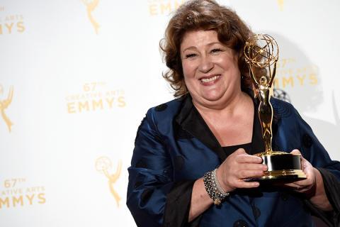 Margo Martindale backstage at the Creative Arts Emmy Awards 2015.