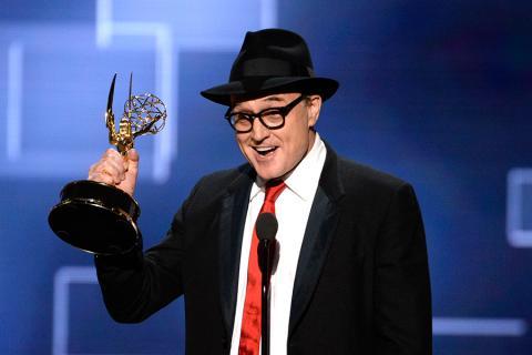 Bradley Whitford accepts an award at the 2015 Creative Arts Emmys.
