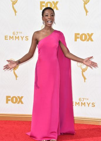 Samira Wiley on the red carpet at the 67th Emmy Awards.