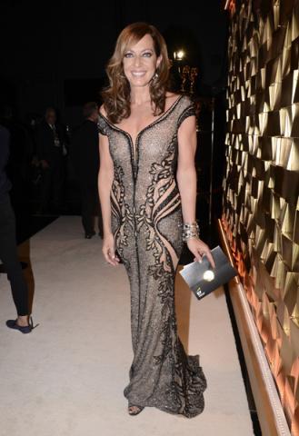 Allison Janney backstage at the 67th Emmy Awards.
