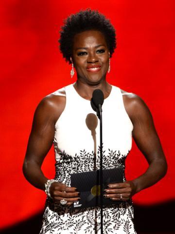 Viola Davis presents an award at the 67th Emmy Awards.