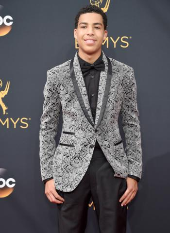 Marcus Scribner on the red carpet at the 2016 Primetime Emmys.