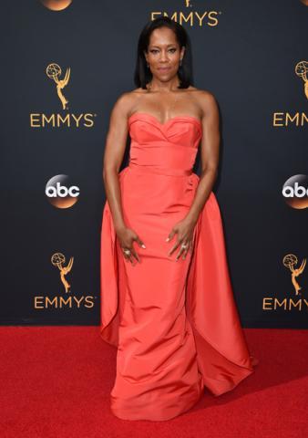 Regina King on the red carpet at the 2016 Primetime Emmys.