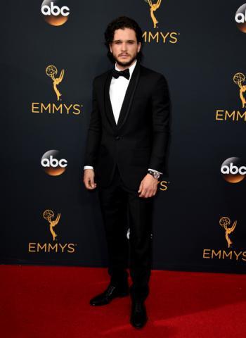 Kit Harington on the red carpet at the 2016 Primetime Emmys.