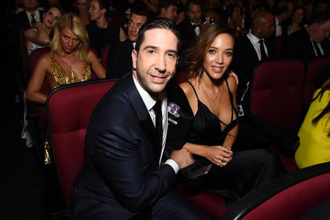 David Schwimmer and Zoe Buckman at the 2016 Primetime Emmys.