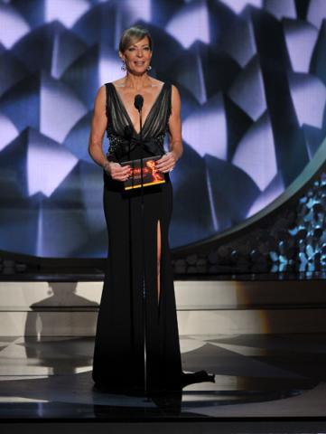 Allison Janney presents an award at the 2016 Primetime Emmys.