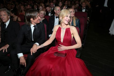 Keith Urban and Nicole Kidman at the 2017 Primetime Emmys.