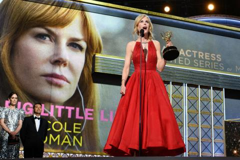 Nicole Kidman accepts her award at the 69th Primetime Emmys